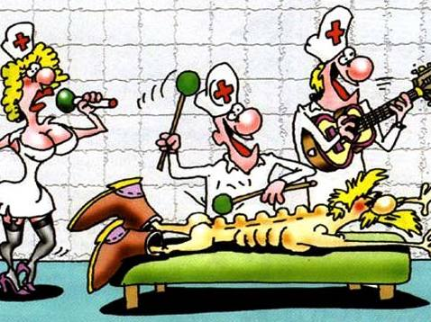 Карикатуры на тему массажа