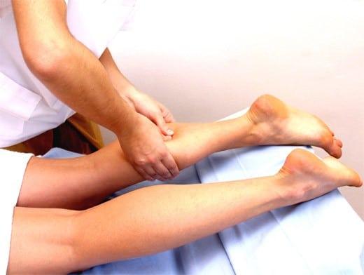 Массаж икроножной мышцы в бане