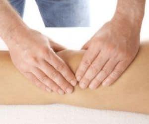 Массаж передней поверхности коленного сустава в бане
