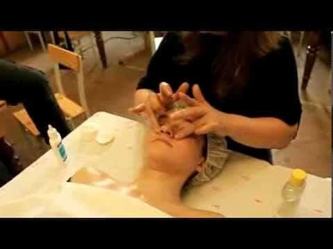 Классический массаж лица видео